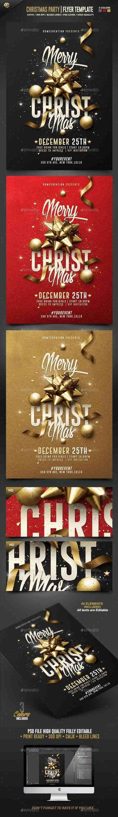 company christmas party invitation templates%0A New Post christmas party flyer background