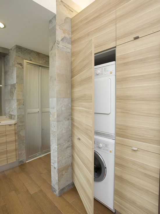 Our #PureBond plywood would be perfect for this hidden laundry!