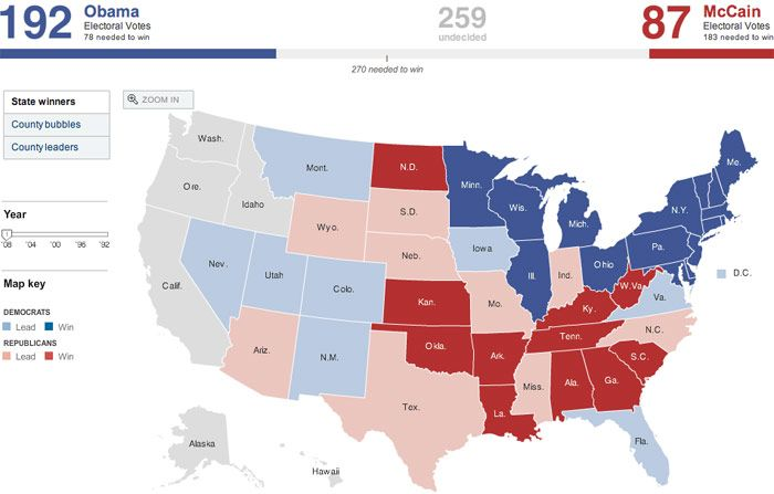 All kinds of crazy election maps from the 2008 election.