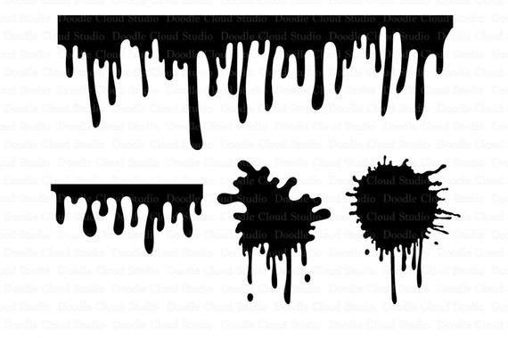Paint Stains Svg Dripping Paint Splatter Svg Dripping Etsy In 2021 Drip Painting Paint Stain Svg