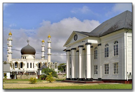 mosque and synagoge together Paramaribo, Suriname - South America