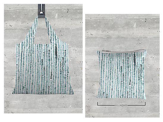 custom made minimal foldaway tote