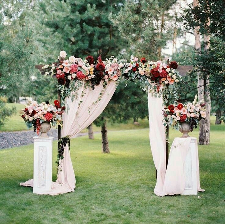 25 best ideas about wedding arbor decorations on for Archway decoration ideas
