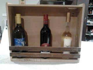Old Oak drawer converted into wine rack