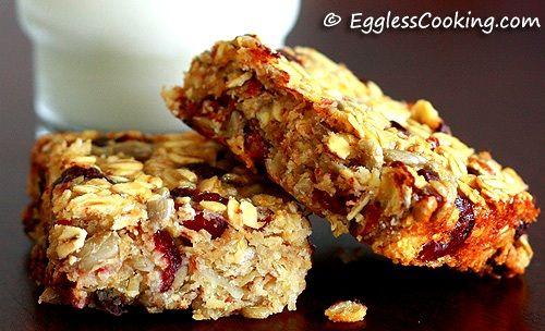 Cranberry Granola BarsDesserts Granola, Cookies Bar, Healthy Food Recipe, Cookie Bars, S'Mores Bar, Granola Bar, Cookies Muffins Breads, Bar Recipes, Eggless Cookies