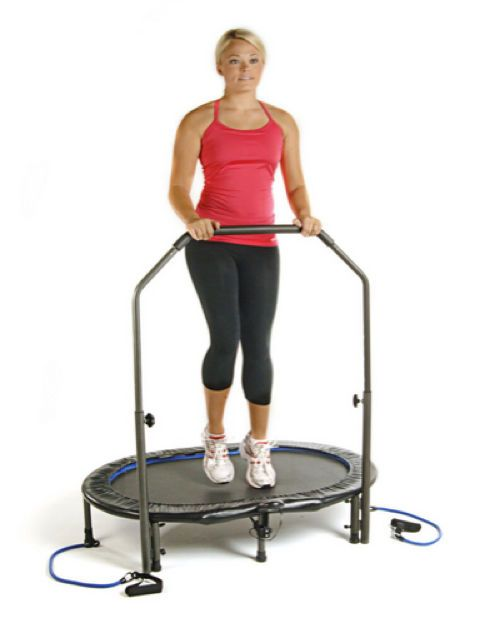 Rebound Trampoline Jogger Exercise Machine Tone Fitness Trainer Cardio Equipment #exercise #trampoline #rebounder #workout