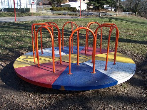 I did not personally have this, but my church playground did!