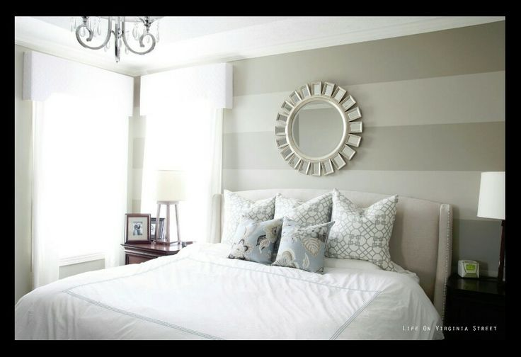Light Gray Striped Wall