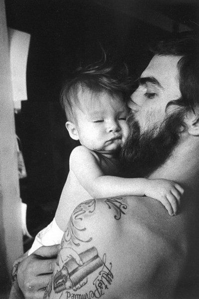 Dear men (not boys trying to act grown), a loving, devoted, attentive, affectionate FATHER (not just a sperm donor) is inexplicably attractive. Let me say that again... An invested dad is GORGEOUS. (p.s. the beard and tats are just sexy lagniappe)