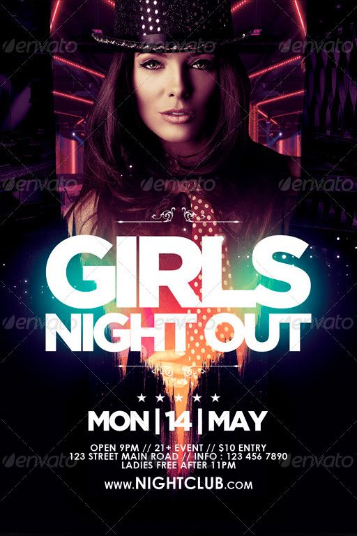 ladies night out club flyer - photo #28