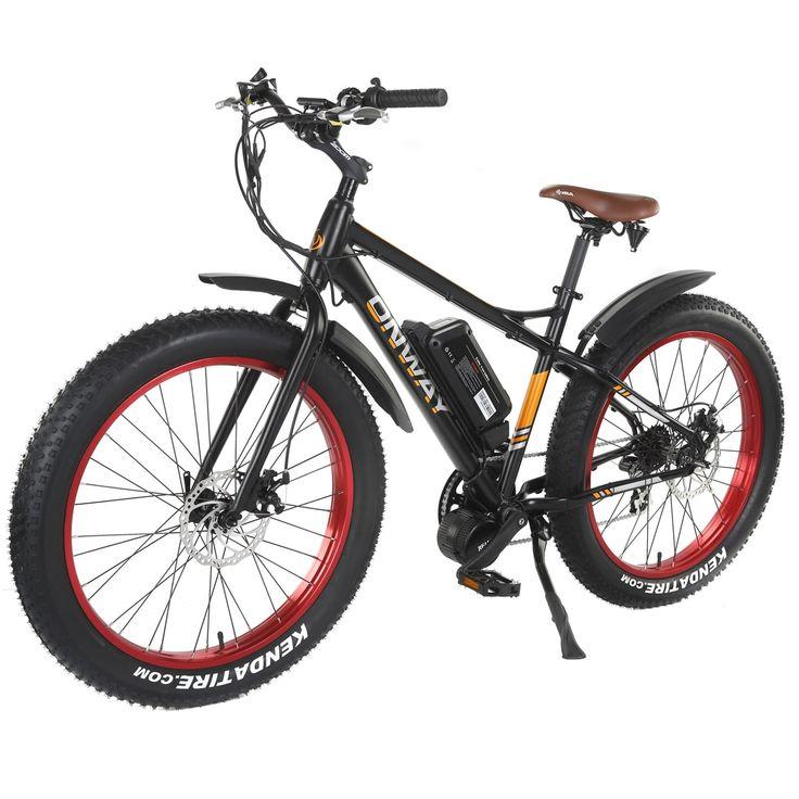 Onway 750-watt 7-speed Fat Tire Sand & Beach Electric Bike