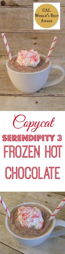 Pin for later! Copycat Serendipity 3 Frozen Hot Chocolate