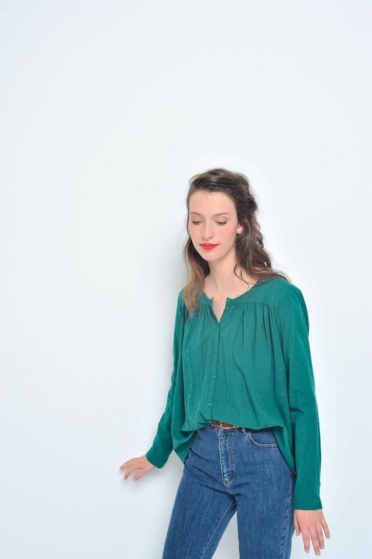 Blouse toulouse palmier - blouse 100% coton - des petits hauts 1