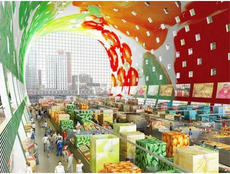 Best Market Hall In Rotterdam Images On Pinterest Rotterdam - Incredible 36000 sq ft mural lines ceiling market hall rotterdam