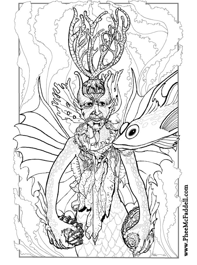 lake underwater coloring pages - photo#37