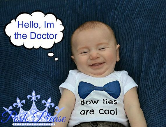 Doctor Who Baby Outfit Bow Ties Are Cool Doctor Who by PoshPlease