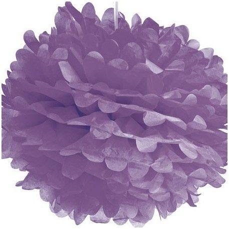 Ces pompons en papier de soie de 37 cm donneront la touche déco qui manquait à vos soirée, buffets ou fêtes d'anniversaire.Vendu à l'unité