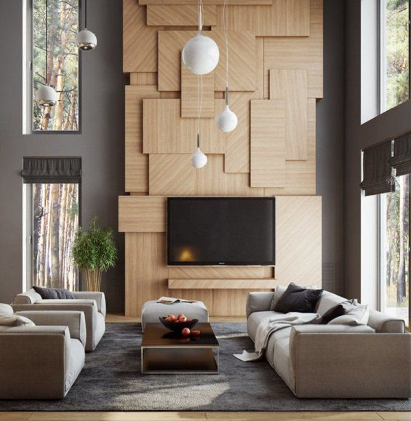 captivating living room tv wall design | 50 Inspirational TV Wall Ideas | House | Tv wall design ...