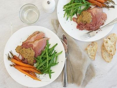 Slow Cooker Corned Beef with Mustard Sauce recipe