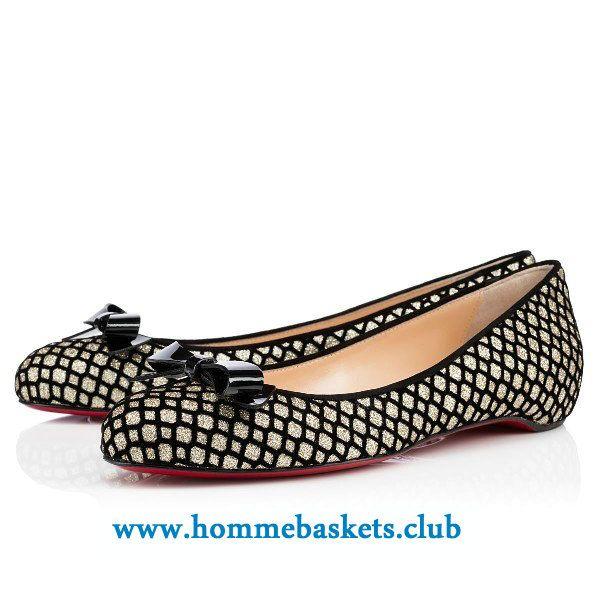 plus récent aeea8 d5e83 Christian Louboutin Femme Simplenodo Flat Glitter Floque ...