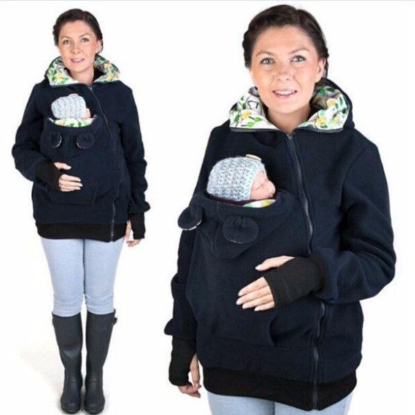 Cute Winter Maternity Kangaroo Coat
