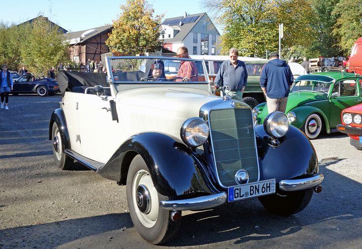 Alle Größen | Mercedes 170 D OTP (offener Tourenwagen Polizei, W 136 VI D, 1951/52, 530 built, normally dull green) | Flickr - Fotosharing!