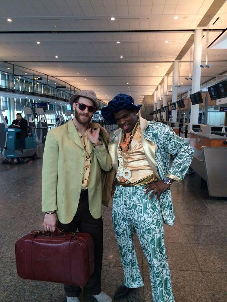 Twitter / Brandon Prust / PK Subban: Ugly suit trip! @PKSubban1 #2014 #Hockey #Fun