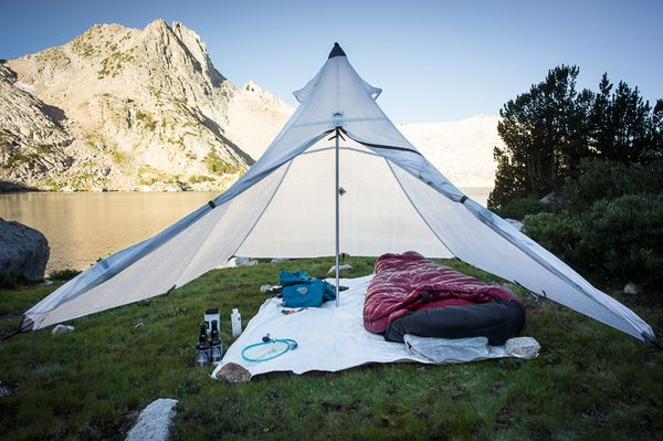 The Hyperlite Mountain Gear UltaMid pyramid tent -- on the trail with Hike It…