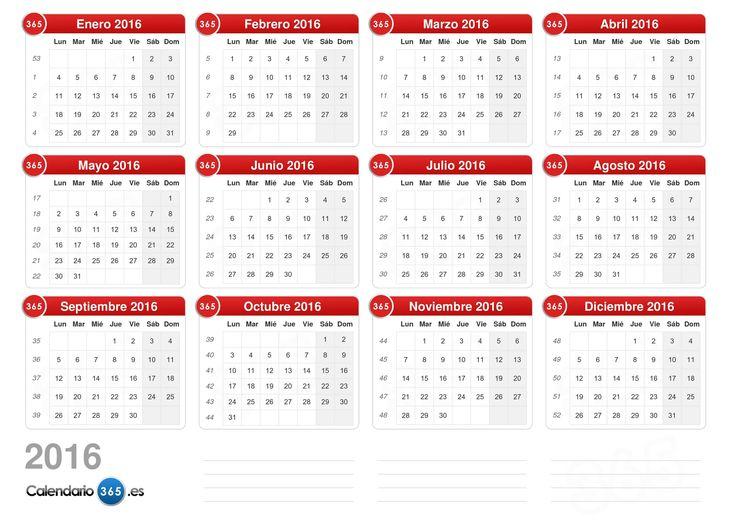 Calendario 2016 Julio Colombia