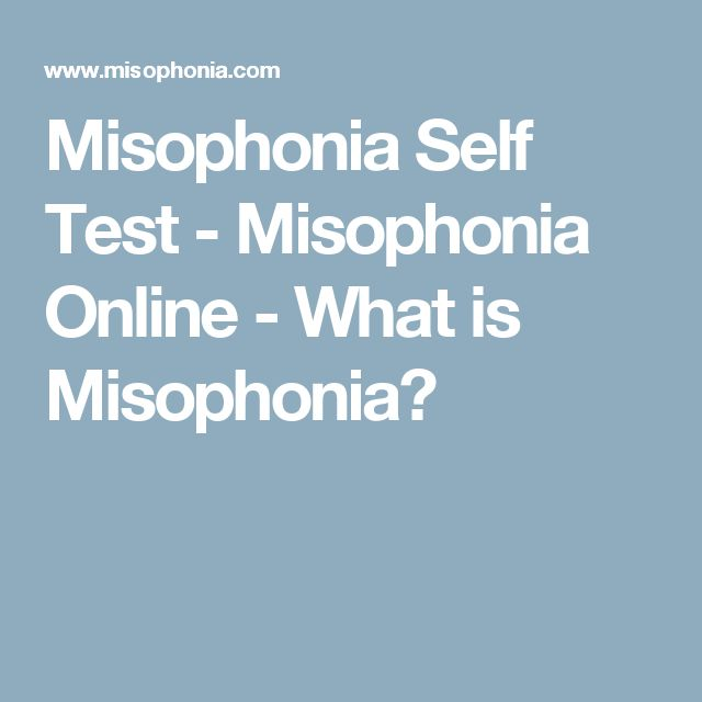 how to get over misophonia