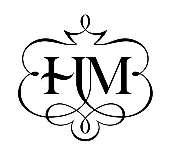 HM monogram for a wedding.