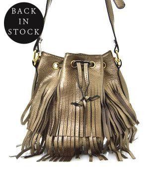 Fringe Leather Cross Body Bag - Keffeler Kreations | HilltopBoutique.com - 1
