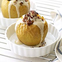Baked Apples with Vanilla Drizzle - 5 points plus value on Weight Watchers