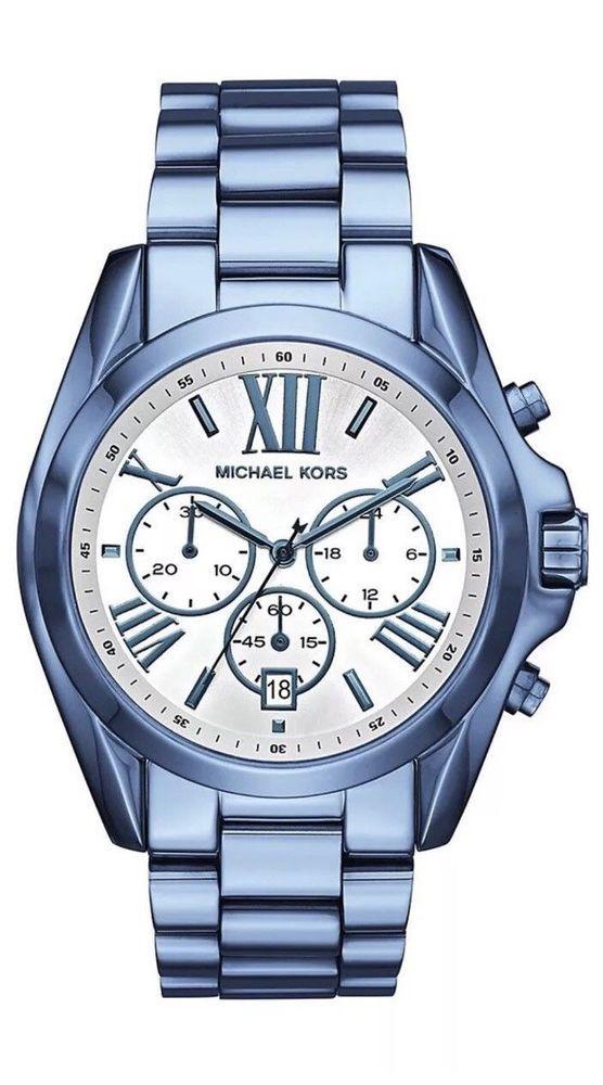 NWT Michael Kors Women's Chronograph Bradshaw Ocean Blue Watch MK6488 $250 #MichaelKors #Fashion