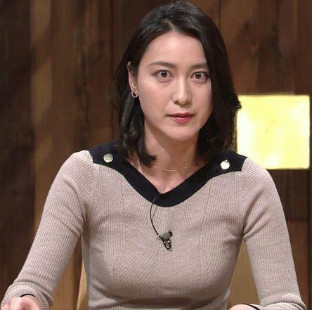 【GIFあり】今日の小川彩佳さん(39)のお●ぱいwwwww