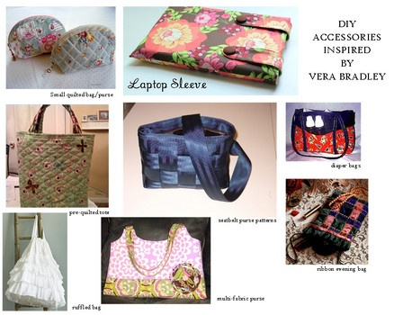 76cd44a1bf57 DIY quilted bags- Vera Bradley inspired bags