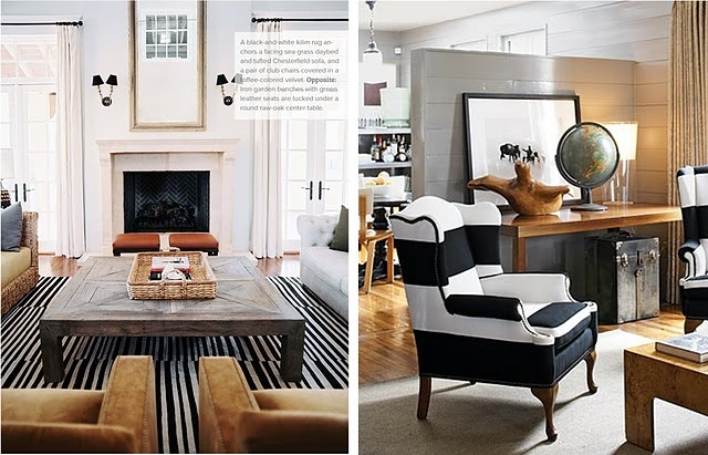 black and white and wood