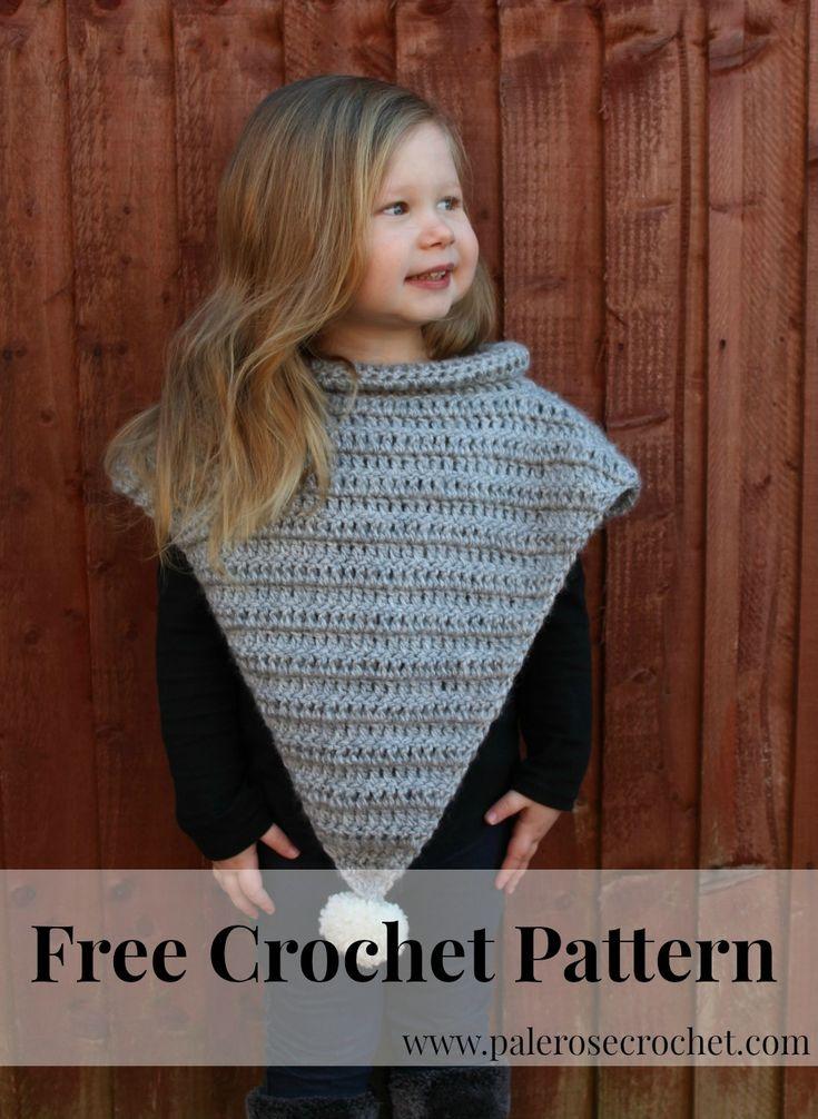 Toddler Pom Pom Poncho Crochet Pattern