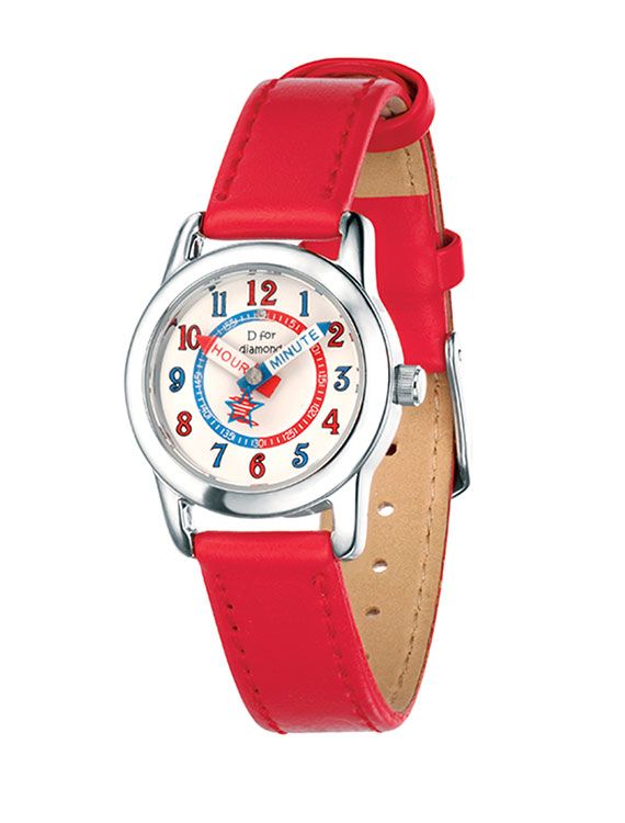 Child's Stainless Steel & Red Watch