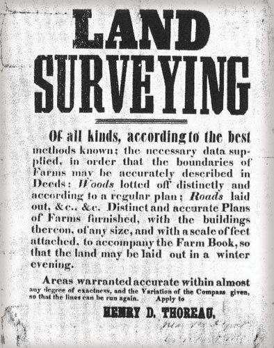 Henry Thoreau Surveying Advertisement - Land Surveyors United
