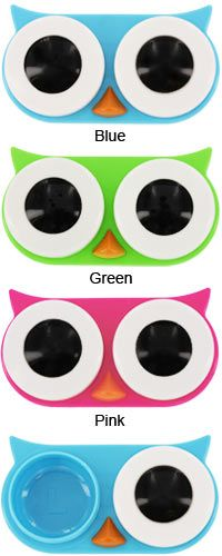 I almost want contacts, just so I can use these!  Owl Contact Lens Case at The Animal Rescue Site
