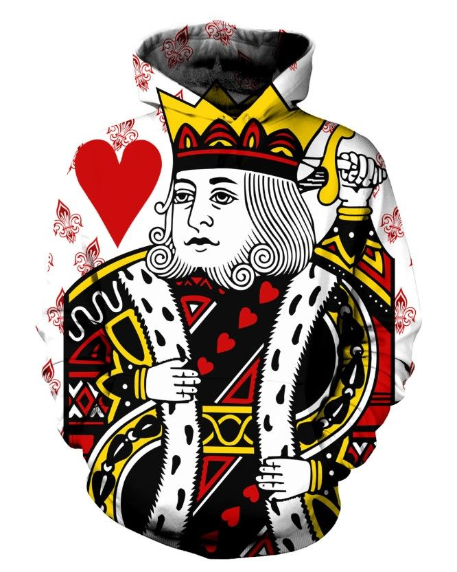 King Of Hearts 3d Street Wear Hoodie In 2019 3d Clothing T