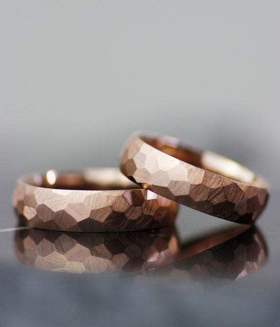 modern wedding band set handmade comfort fit wedding by lolide. $1,567.92 Edgy with an old fashioned touch. Love these rings. Refreshing.