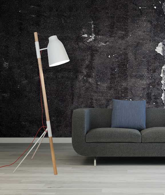 Φωτιστικό δαπέδου (επιδαπέδιο) - λαμπατέρ μονόφωτο, σε μοντέρνο στυλ, με σώμα από ξύλο σε φυσική απόχρωση και ατσάλι, κόκκινο καλώδιο και καπέλο σε λευκό ή μαύρο χρώμα από πολυεστέρα. Από την Zambelis Lights. ------------------------------------------------- Floor lamp - luminaire, in modern style, with body in natural shade and steel, red cable and polyester white or black hat. #colors #floor #floordecor #floorlamp #floorlighting #homedecor #papantoniougr #home #homeideas #homeimprovement