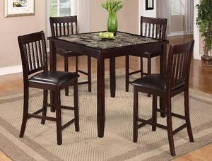 cascade counter height dining room set by crown mark 2740set
