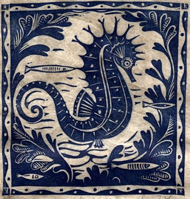 Seahorse by Sarah Young - good visual aesthetic for marine life room