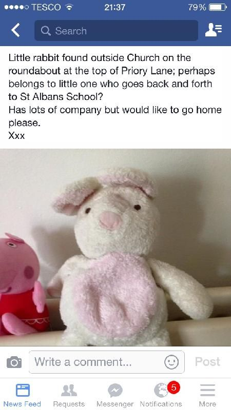 Found on 26 May. 2016 @ fallibroome road macclesfield. Found outside the church at the roundabout where victoria road and fallibroome road meet in macclesfield. Possibly a child from st albans primary school has lost it? Visit: https://whiteboomerang.com/lostteddy/msg/6z0x8c (Posted by Rebecca on 30 May. 2016)