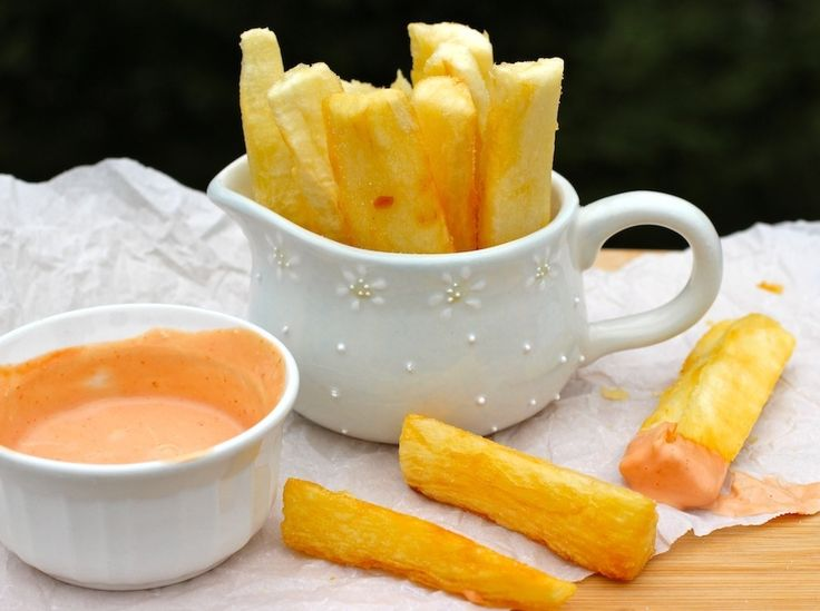 Colombian Food yucca fries- use coconut oil