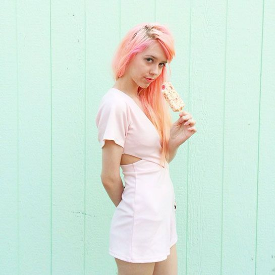 How To Wear Pink Every. Single. Day. Seriously #refinery29  http://www.refinery29.com/mermaidens-pink-instagram#slide9