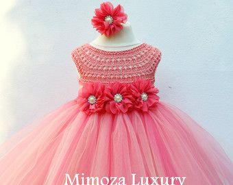 Niña vestido de flores vestido vestido de Dama de por MimozaLuxury